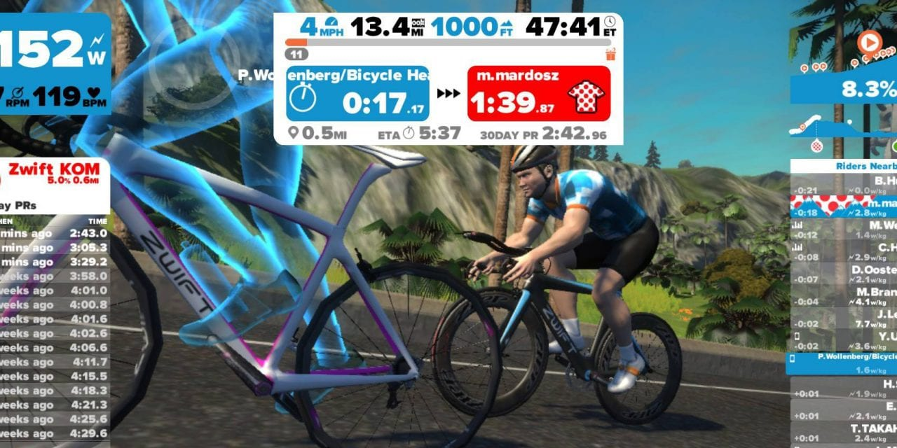 Take January's 1000′ hill rep Zwift challenge