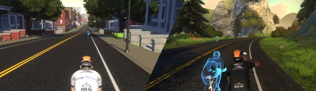 Choosing a course: how to ride either course (Watopia or Richmond) at any time Zwift