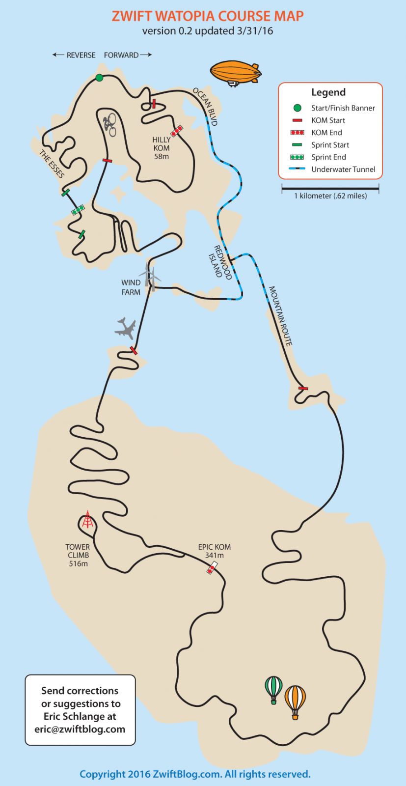 Watopia Course Map | Zwift Insider
