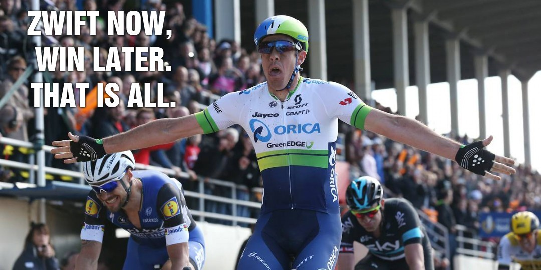 Congrats to Zwifter Matt Hayman on Paris-Roubaix victory