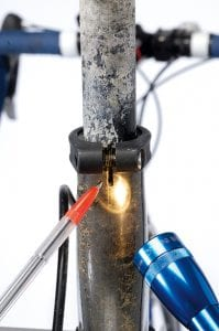 Corroded seatpost