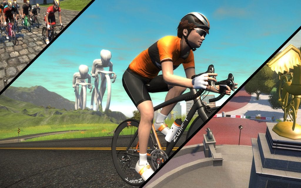 January 2017 Zwift course schedule