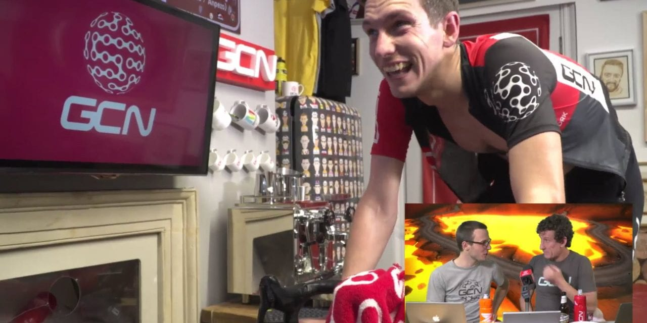 GCN vs. Zwift – watch Si Richardson take on the field