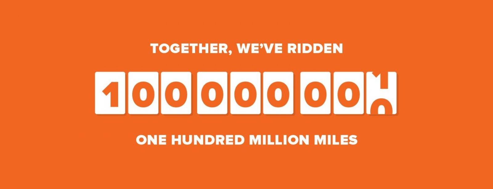 Don t get a big head… but we ve ridden 100 million miles  0e2929e92