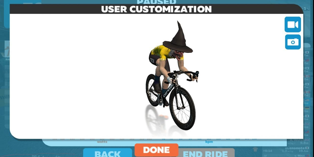 Today's spooky Zwift surprise