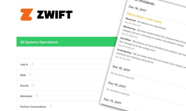 Zwift System Status Monitor