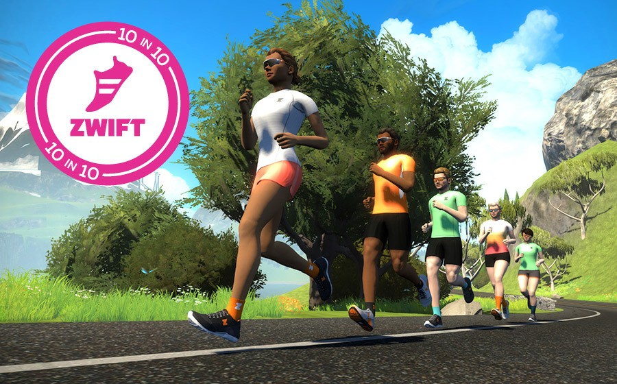 Zwift 10-in-10 Challenge Announced for Runners On Strava