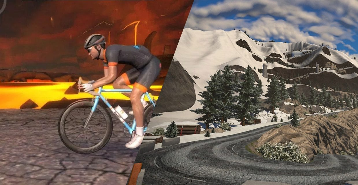 "Watopia ""Tour of Fire and Ice"" Route Details"