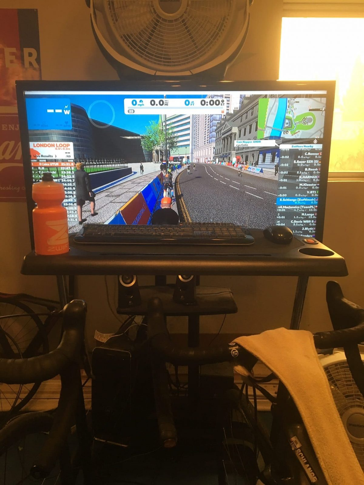 Review: Conquer Adjustable Height Cycling Trainer Desk | Zwift Insider