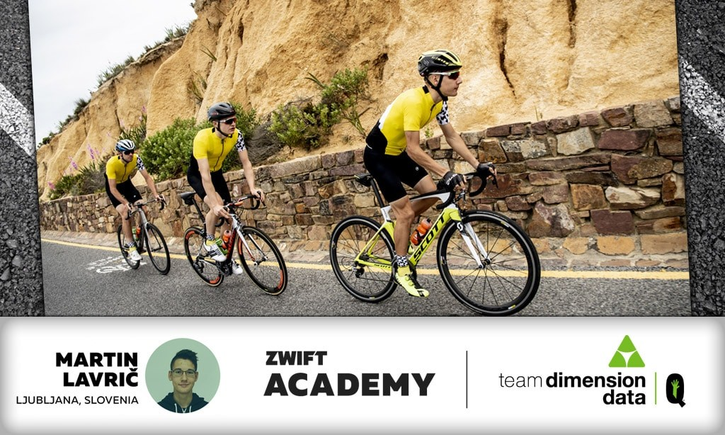 98ec230f2 Martin Lavrič of Slovenia Crowned Winner of the 2018 Zwift Academy. And  then there was one. Team Dimension Data for Qhubeka ...