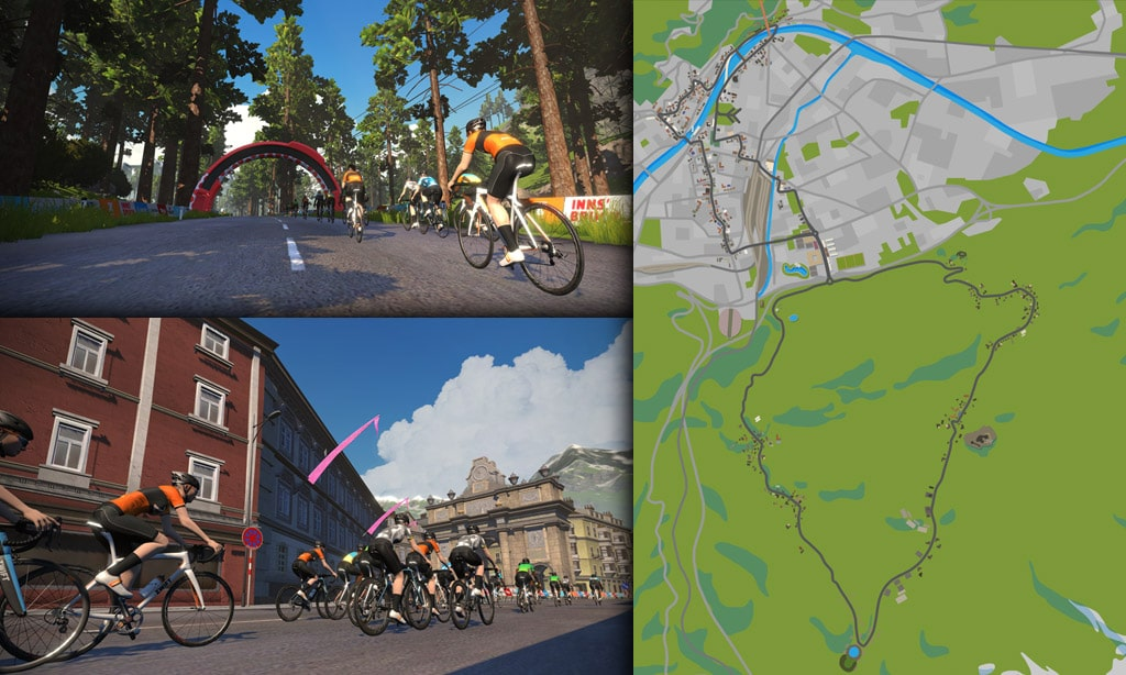 Route Maps & Details for Zwift's Innsbruck Course