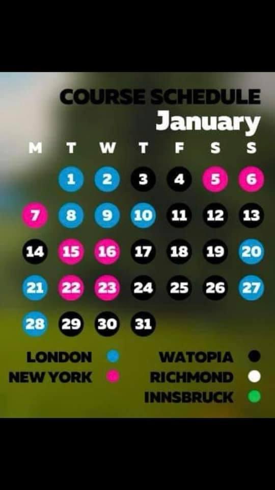 Zwift Course Calendar – September's Guest World Schedule