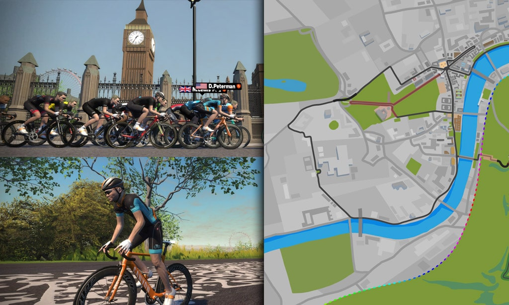Route Maps & Details for Zwift's London Course