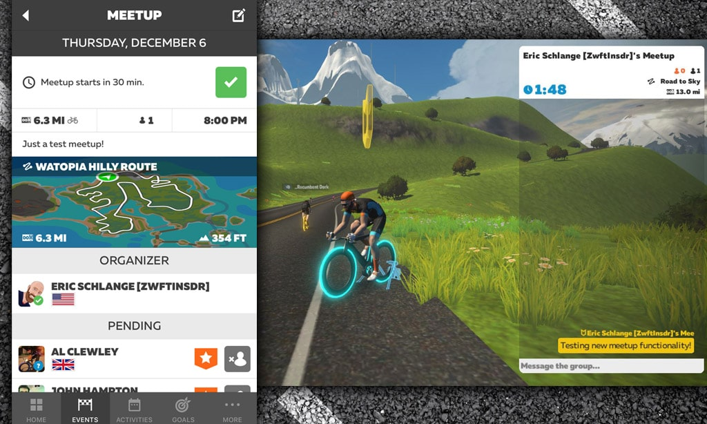Ride With Friends! All About Meetups in Zwift Companion