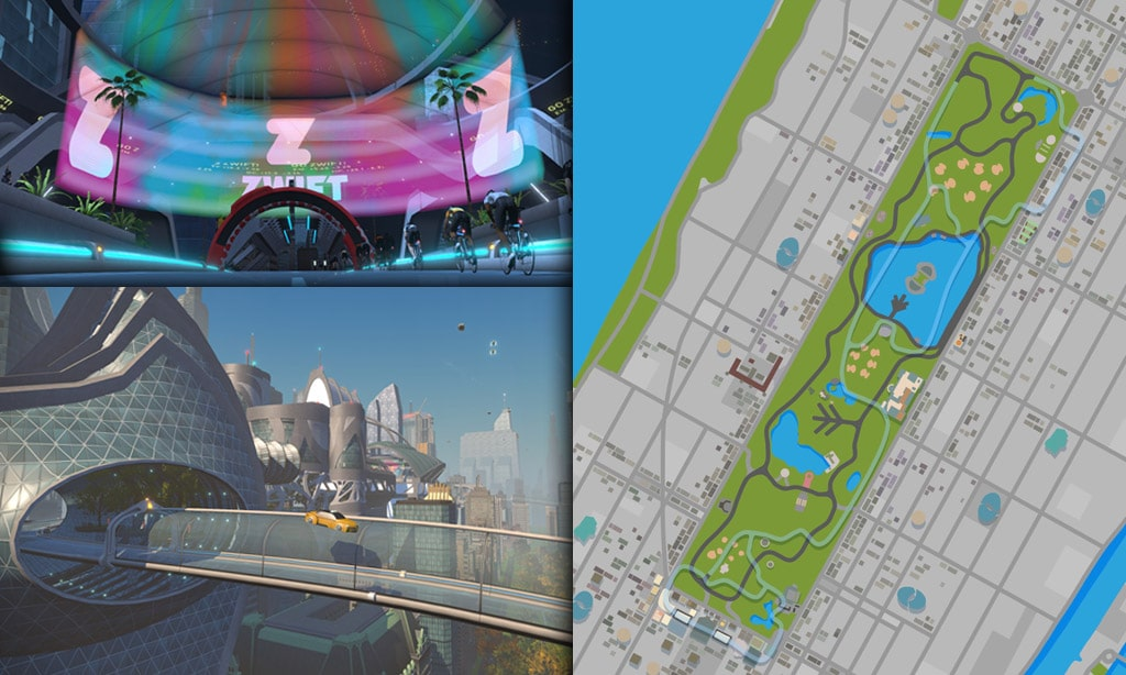 Route Maps & Details for Zwift's New York Course