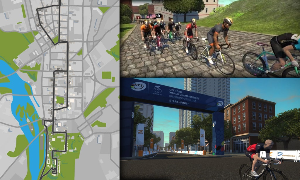 Route Maps & Details for Zwift's Richmond Course