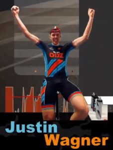 Justin Wagner Virtual Worlds Victory Pose
