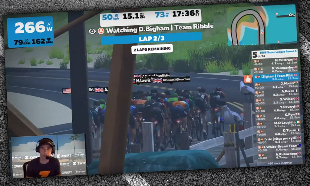 Racing on Zwift – Challenges and Opportunities – Spectating