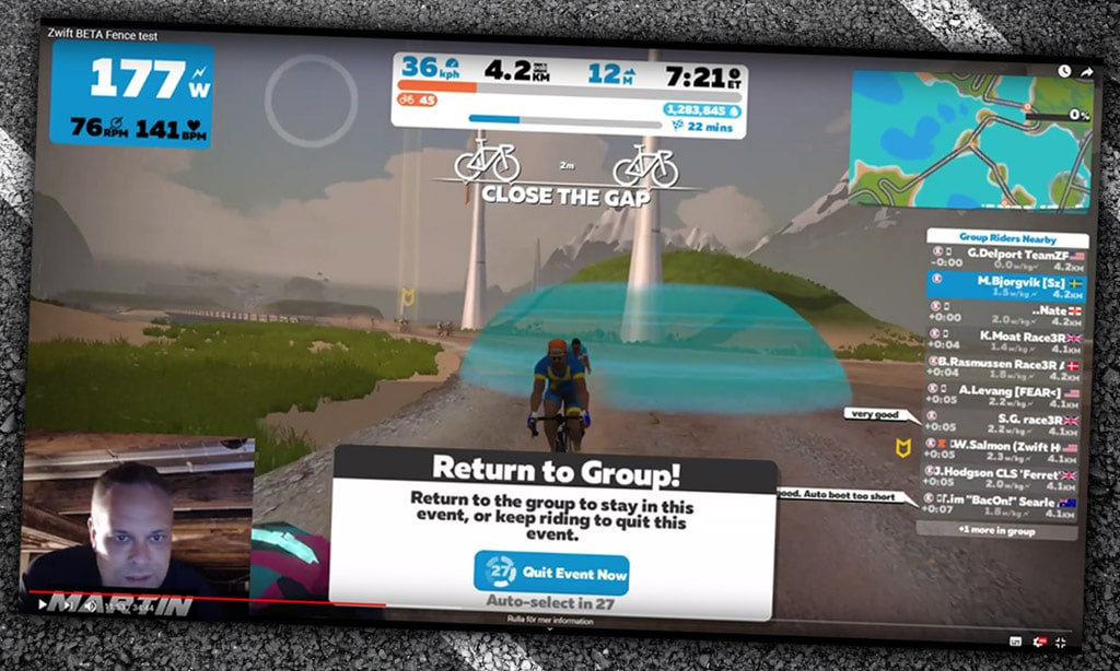 "Check Out Zwift's ""Ride Leader Fence"" Test"