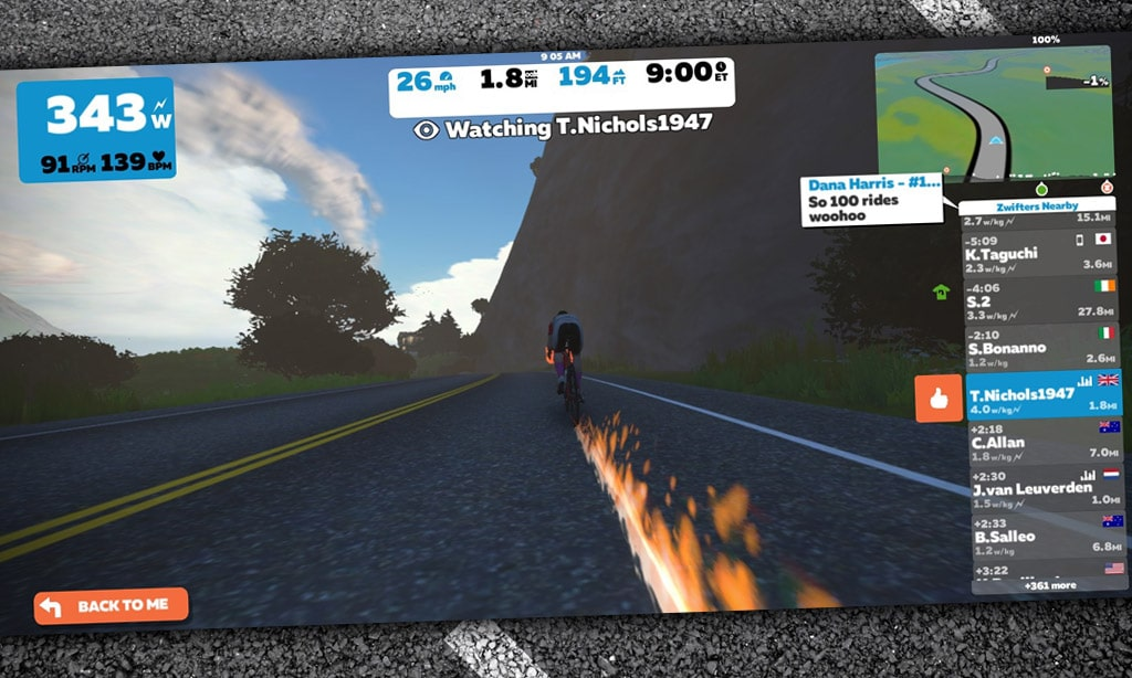 We're Burning Rubber on Zwift Today