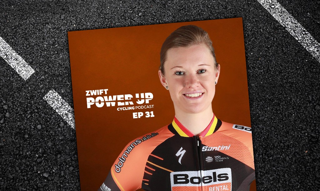 Jolien D'Hoore On Balancing Uni And Racing (Zwift PowerUp Cycling Podcast #31)