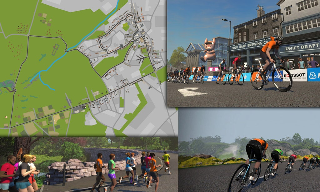 Route Maps & Details for Zwift's Yorkshire Course