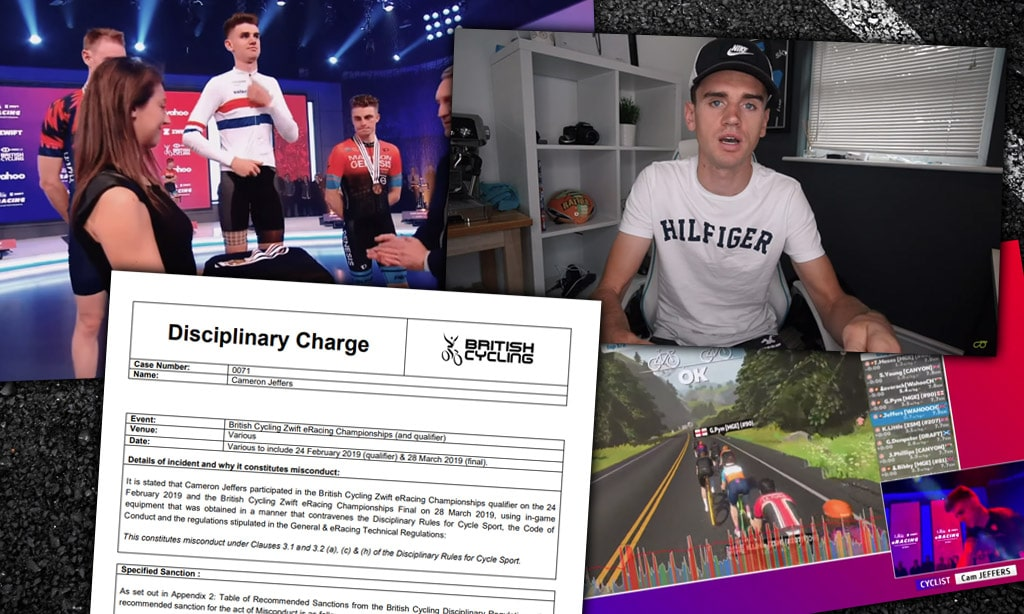 Cam Jeffers Sanctioned, Disqualified from British Cycling Zwift eRacing Championships