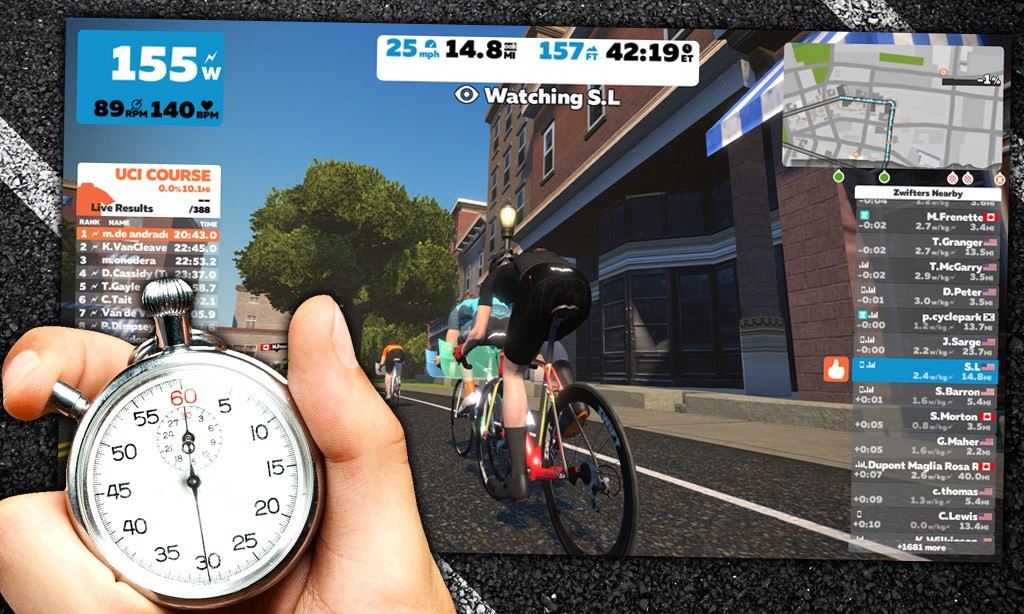 How Zwift Calculates Time Gaps
