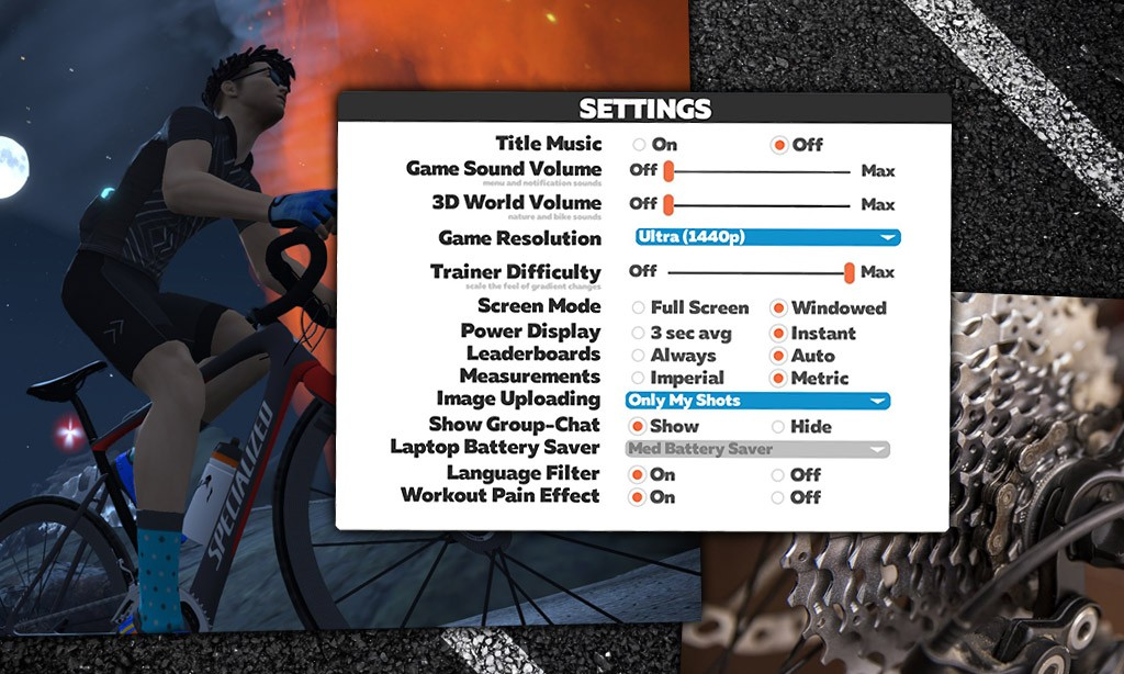 "Using the ""Trainer Difficulty"" Setting in Zwift"