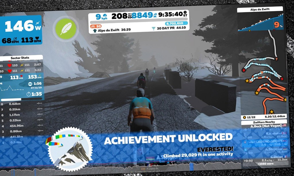 vEveresting with Adrian Timmis: Alpe du Zwift 8 and a Half Times