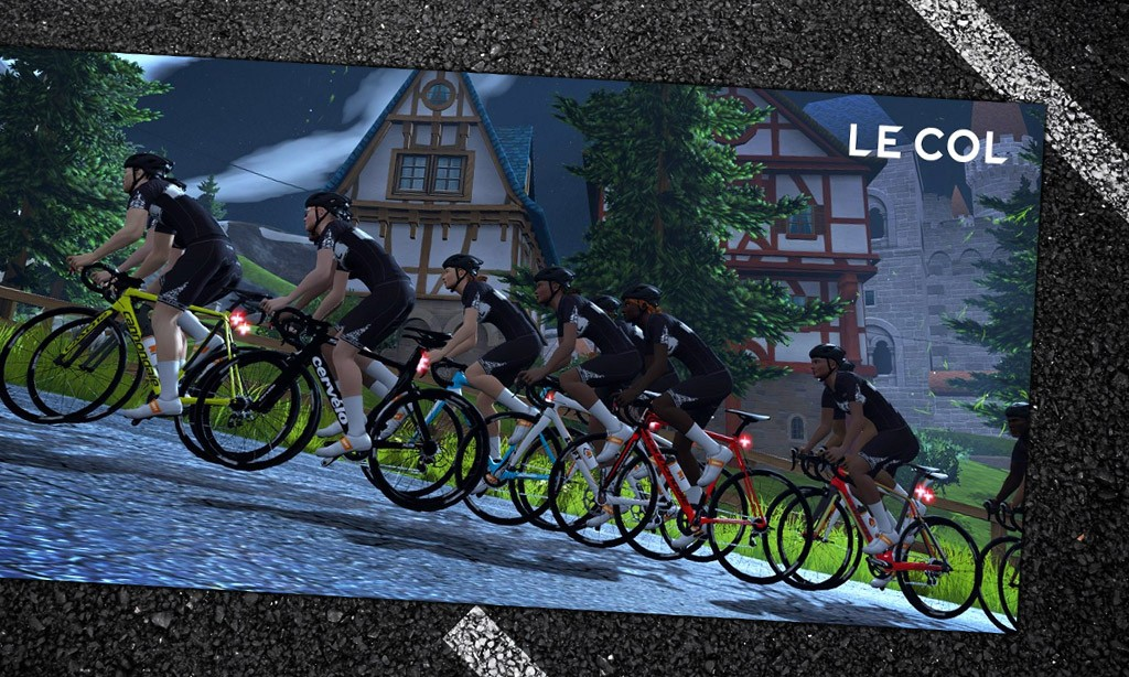 Training with Le Col Sessions on Zwift