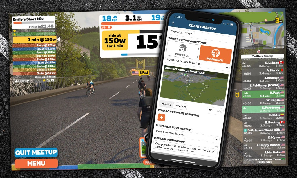 Group workouts via Zwift Meetups? This hack makes it easy!