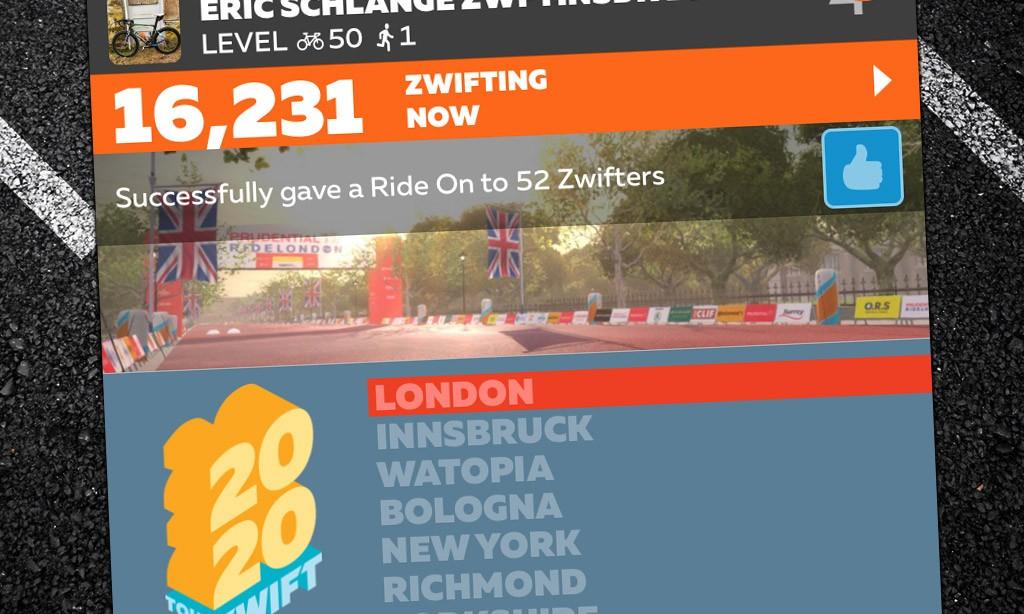 "New ""Peak Zwift"" Achieved: 16,231"