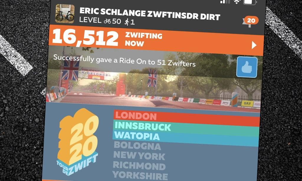"New ""Peak Zwift"" Achieved: 16,512"