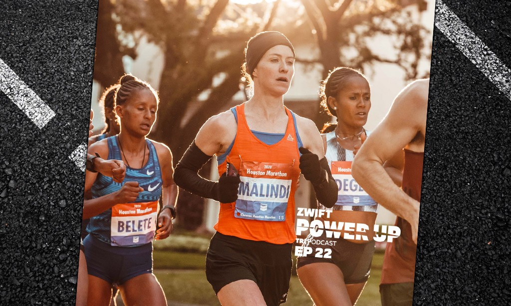 Malindi Elmore: From pro triathlete to Marathon record holder!  (Zwift Power Up Tri Podcast #22)
