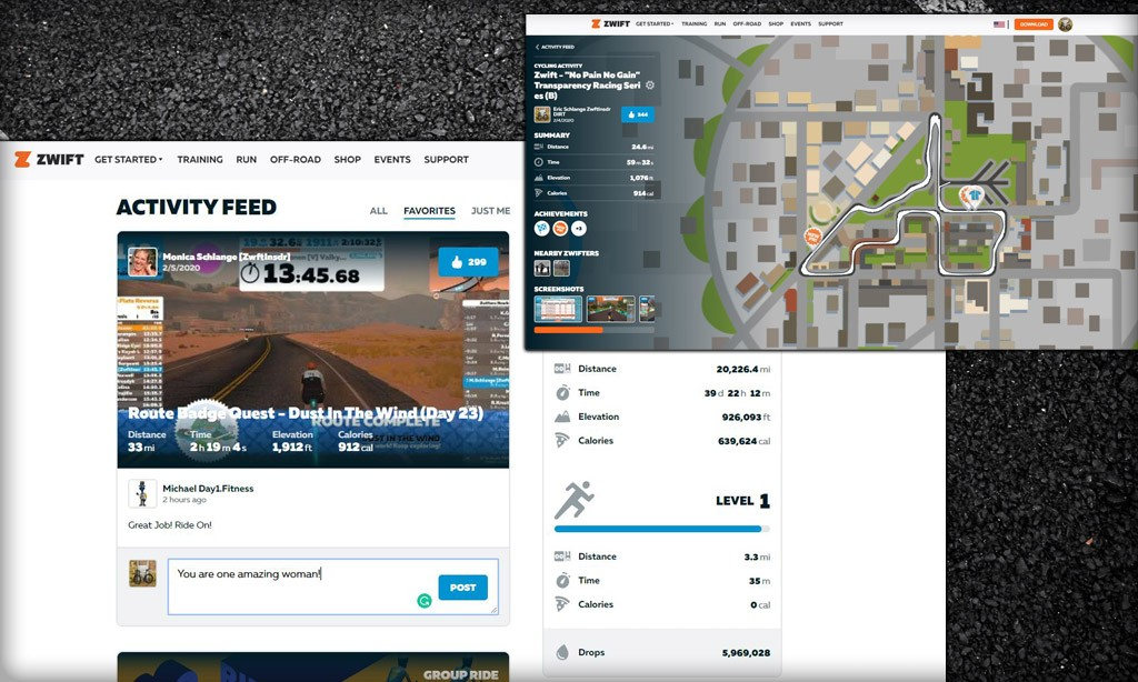 Revamped my.zwift.com Dashboard Launched