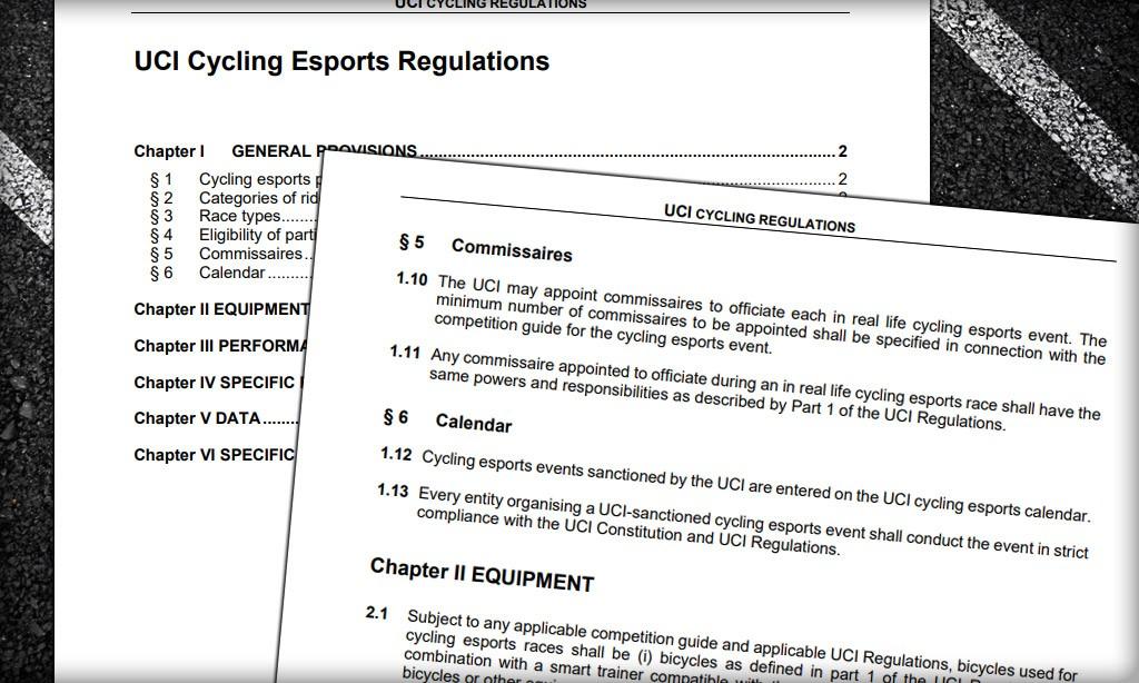 UCI Publishes Cycling Esports Regulations