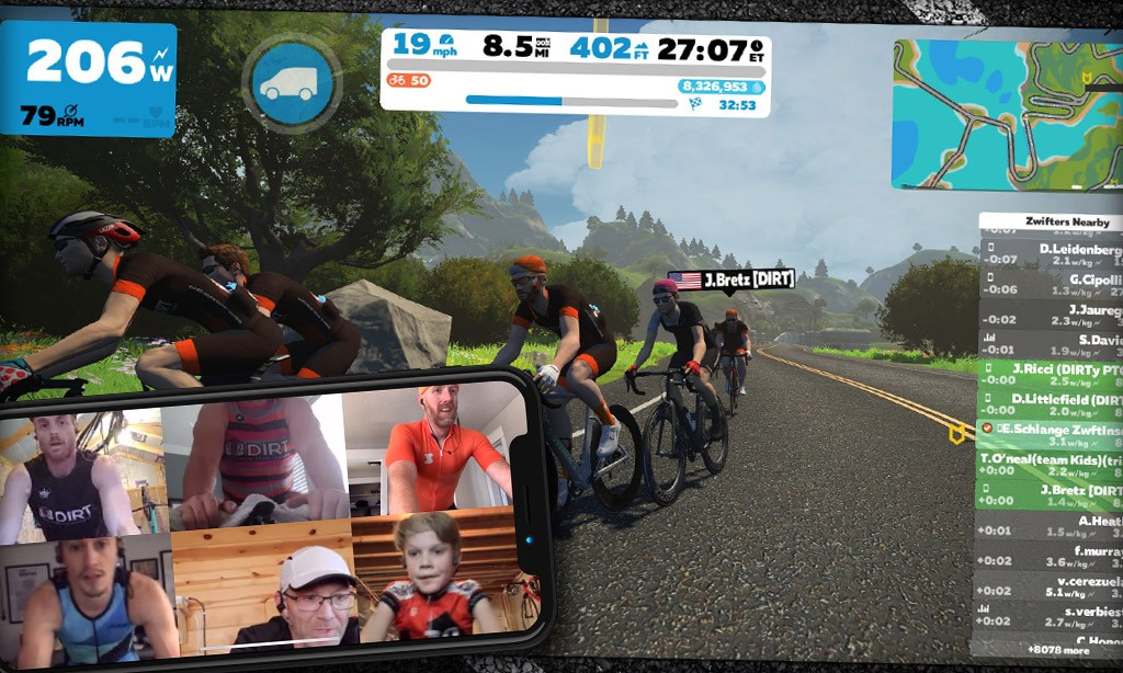 Zwifting with Friends: Video Chat Tools and Tips