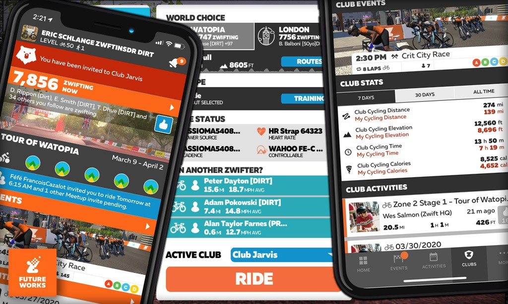 New Zwift Clubs Feature: First Look