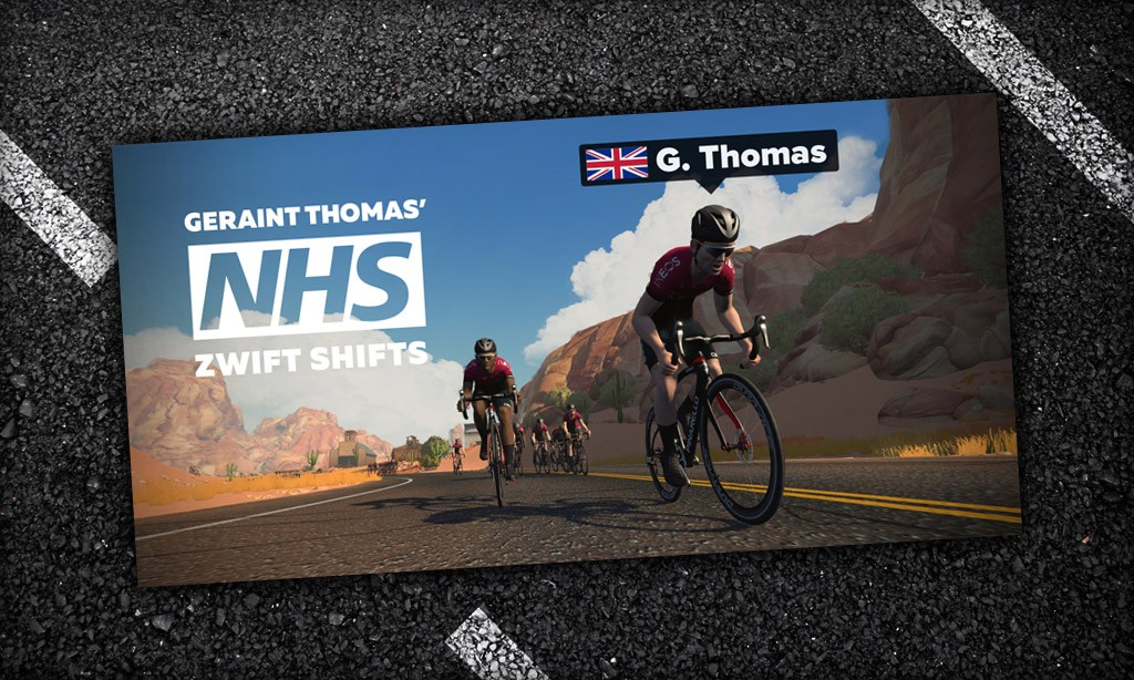 Join Geraint Thomas On His NHS Zwift Shifts