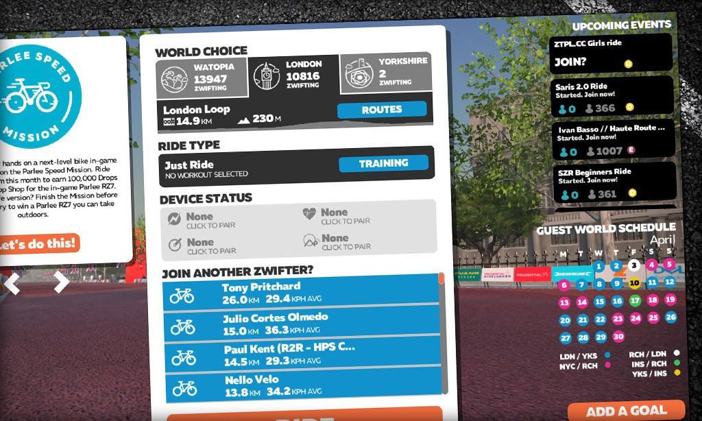Zwift Game News: 2nd Guest World Option, Delayed UI Update