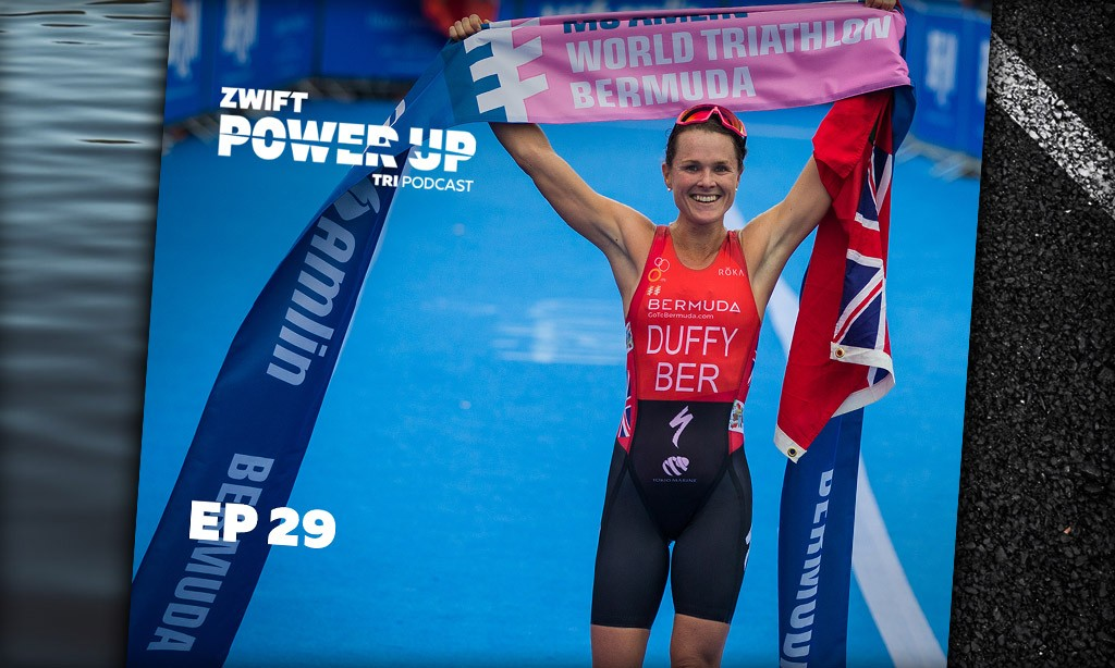 Flora Duffy: How to be a Multidimensional Triathlete (Zwift PowerUp Tri Podcast #29)