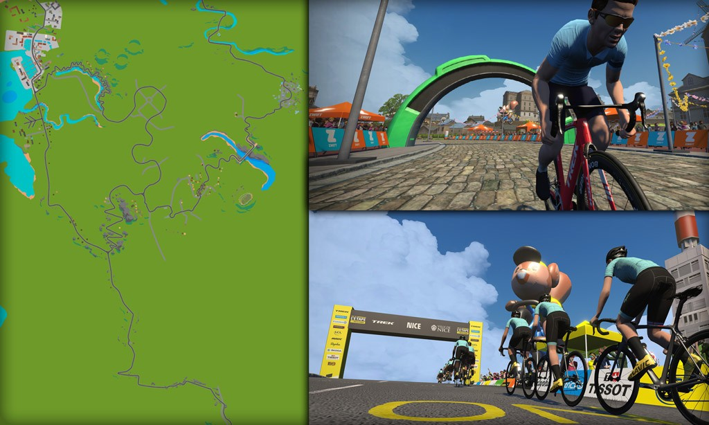 Route Maps & Details for Zwift's France Course