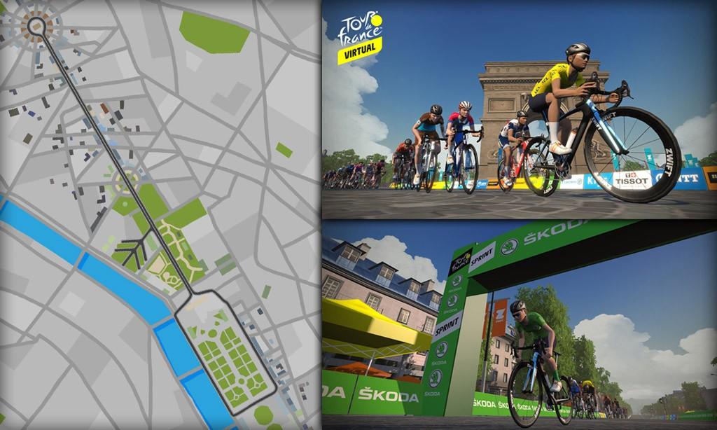 Route Maps & Details for Zwift's Paris Course