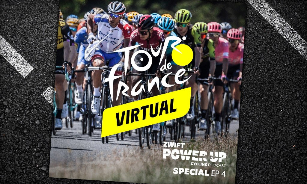 Virtual Tour de France Stage 3 and 4 Winner Interviews With Tanja Erath, Freddy Ovett, And More (Zwift PowerUp Cycling Podcast)