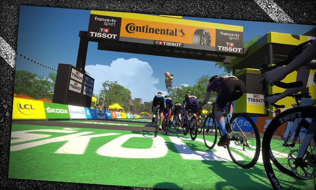 Women's Virtual Tour de France Stage 4: the Final Moments