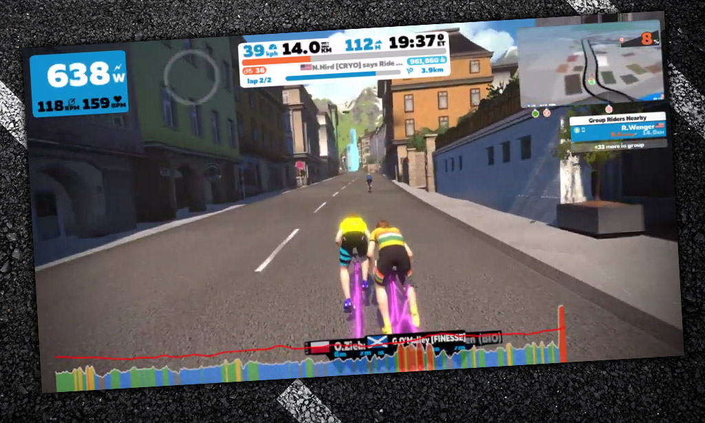 How the Race Was Won: An IRL Style Zwift Race