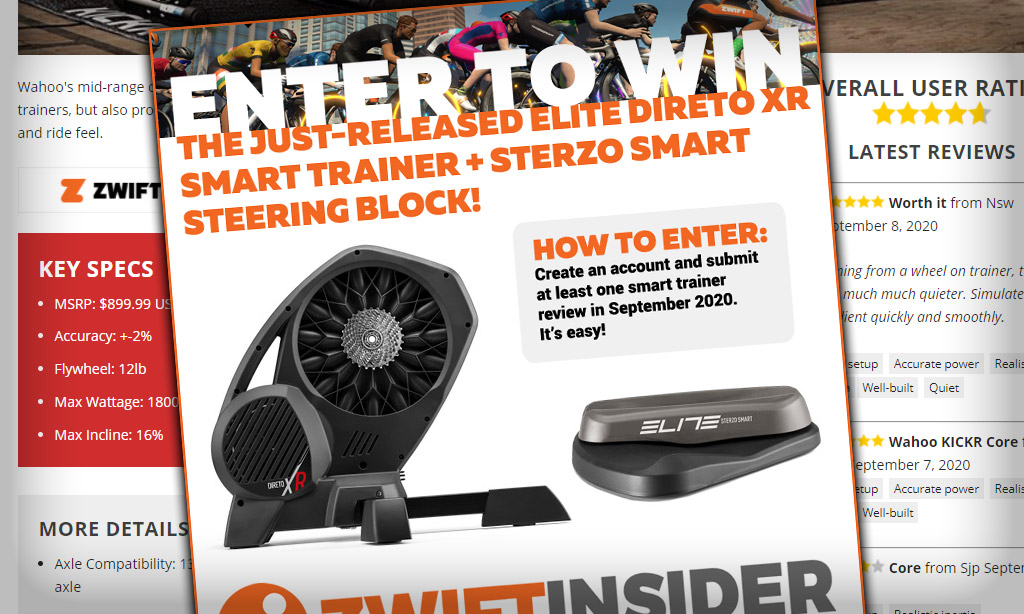 Announcing Our Elite Direto XR + Sterzo Giveaway
