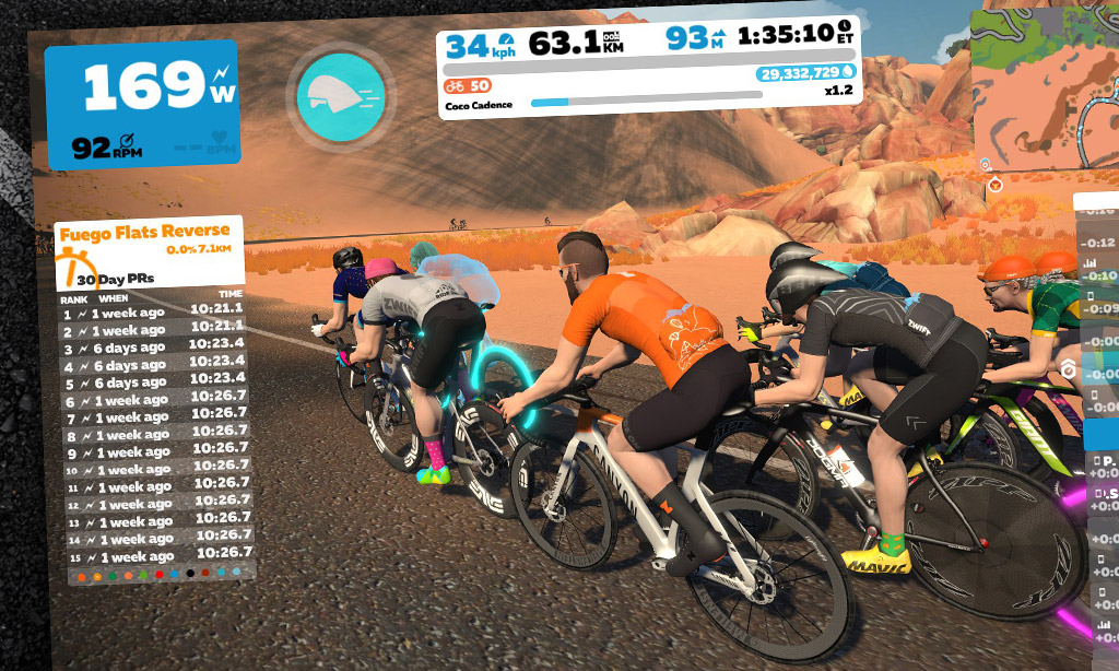 How Zwift's Pace Partner Drops Multiplier game works