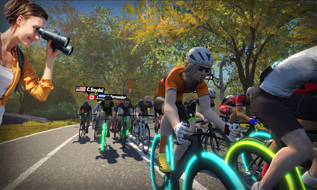 How to Watch Another Rider In a Zwift Race